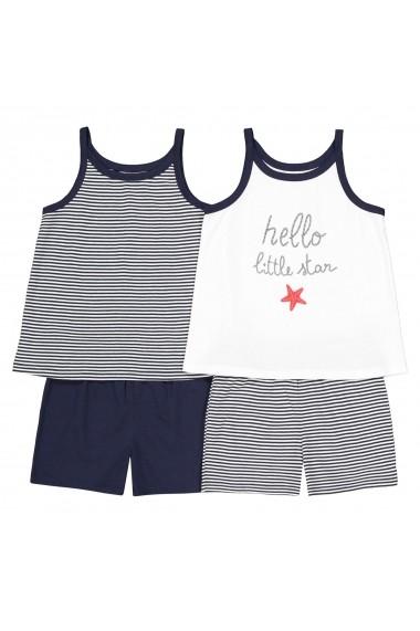 Set 2 pijamale La Redoute Collections GFO076 alb