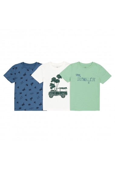 Set 3 tricouri La Redoute Collections GFO704 multicolor