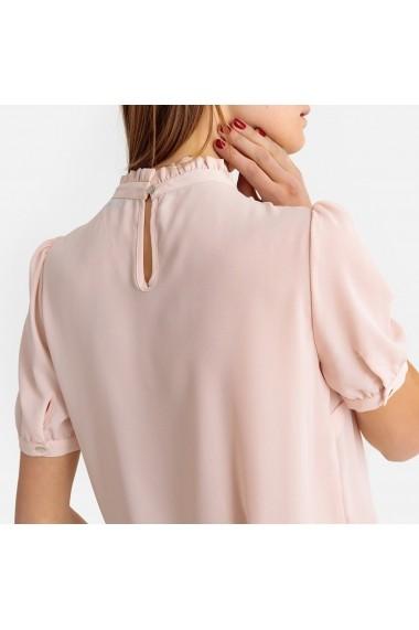 Bluza roz cu guler inalt si maneci scurte La Redoute Collections GFP057 - els