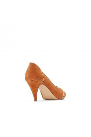 Pantofi cu toc La Redoute Collections GFQ143 bej