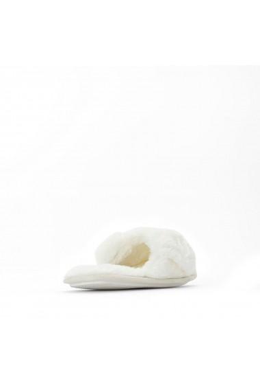 Papuci de casa de casa La Redoute Collections GFQ590 alb
