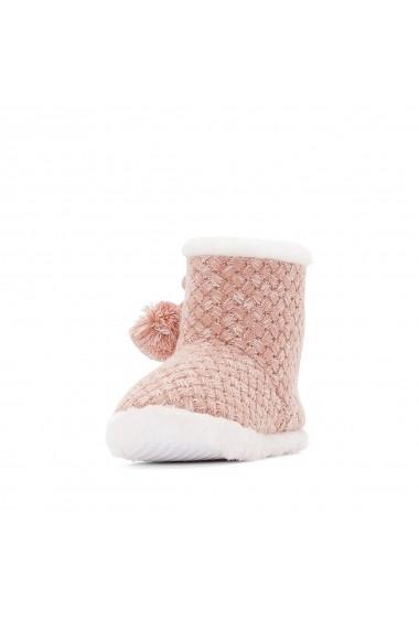 Papuci de casa La Redoute Collections GFQ591 roz