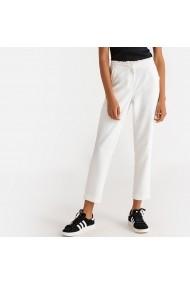 Pantaloni drepti La Redoute Collections GFR793 alb