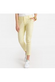 Pantaloni drepti La Redoute Collections GFR821 galben