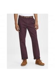Pantaloni JACK & JONES GFS014 bordo