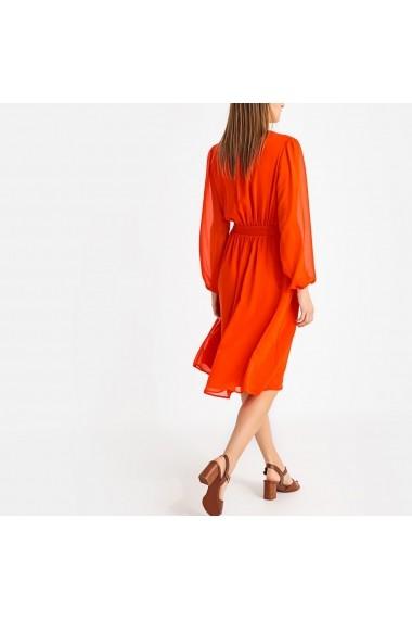 Rochie midi La Redoute Collections GFS711 portocalie