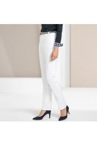 Pantaloni drepti ANNE WEYBURN GFT115 alb - els