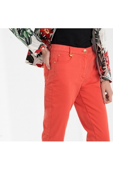 Pantaloni drepti ANNE WEYBURN GFT115 Corai
