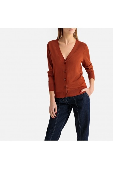Cardigan La Redoute Collections GFT159 maro