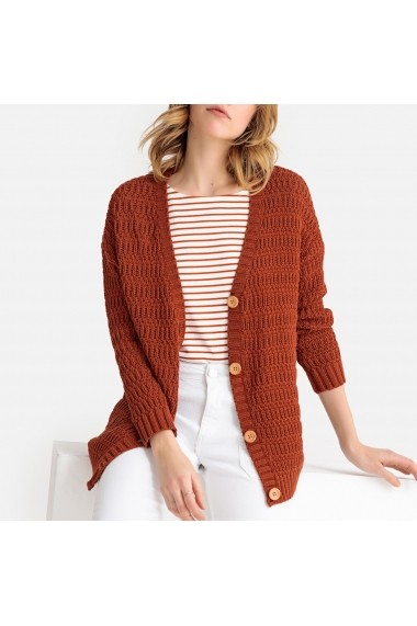 Cardigan din casmir La Redoute Collections GFT465 maro