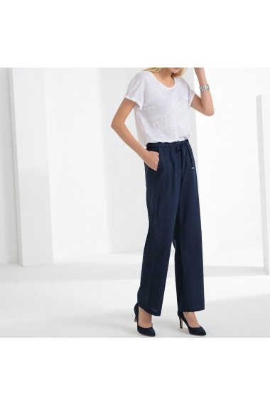 Pantaloni largi ANNE WEYBURN GFT597 bleumarin
