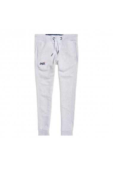 Pantaloni sport SUPERDRY GFT956 alb
