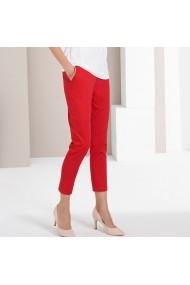 Pantaloni drepti ANNE WEYBURN GFU606 rosu - els