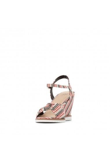 Sandale cu toc La Redoute Collections GFU758 bej