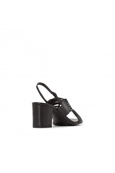 Sandale cu toc La Redoute Collections GFU840 negru