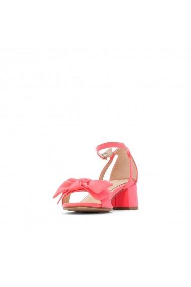 Sandale cu toc La Redoute Collections GFU855 roz - els