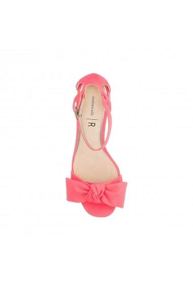 Sandale cu toc La Redoute Collections GFU855 roz