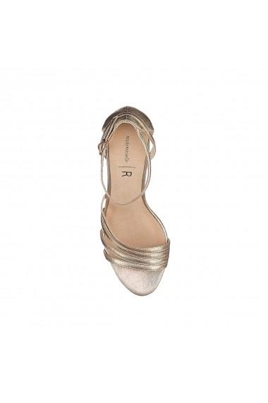 Sandale cu toc La Redoute Collections GFU878 auriu - els