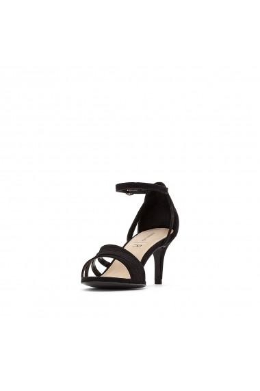 Sandale cu toc La Redoute Collections GFU878 negru - els