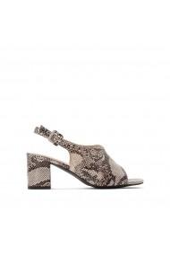 Sandale cu toc La Redoute Collections GFU979 bej