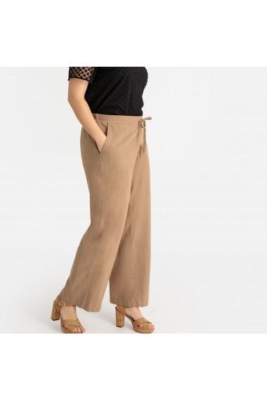 Pantaloni largi CASTALUNA GFW057 bej