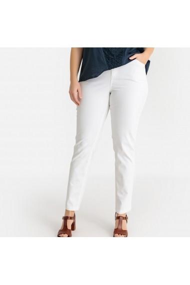 Pantaloni skinny CASTALUNA GFW068 alb
