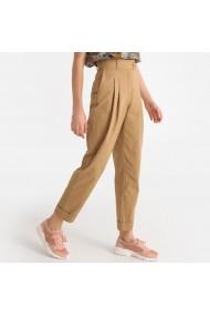 Pantaloni drepti La Redoute Collections GFW522 bej - els