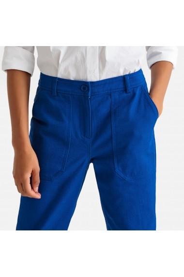 Pantaloni drepti La Redoute Collections GFX510 albastru