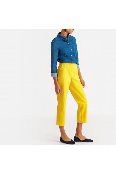 Pantaloni drepti La Redoute Collections GFX510 galben