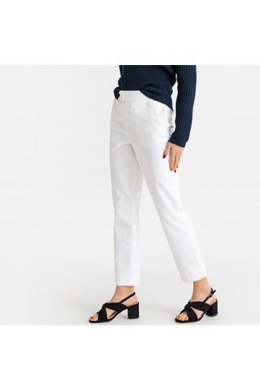 Pantaloni drepti La Redoute Collections GFX524 alb