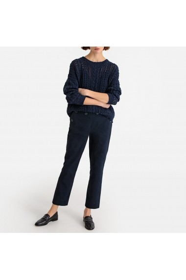 Pantaloni drepti La Redoute Collections GFX524 bleumarin