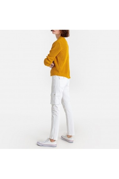 Jeansi skinny La Redoute Collections GFY364 alb