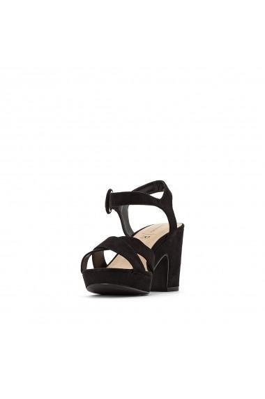 Sandale cu toc La Redoute Collections GFY891 negru