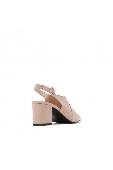Sandale cu toc La Redoute Collections GFY930 roz
