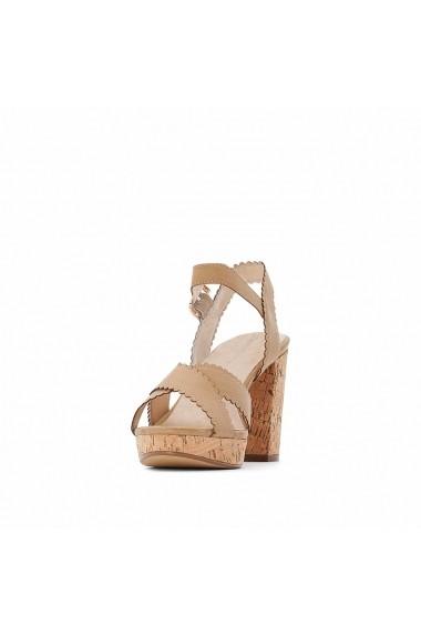 Sandale cu toc CASTALUNA GFY945 bej