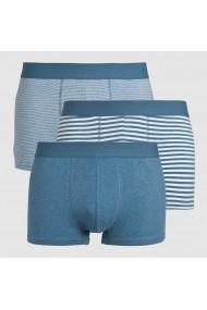 Set 3 perechi boxeri La Redoute Collections GFZ975 albastru