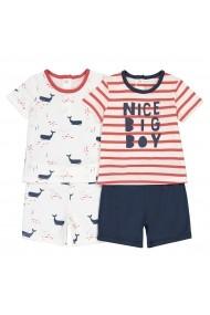 Set 2 pijamale La Redoute Collections GGT784 ecru