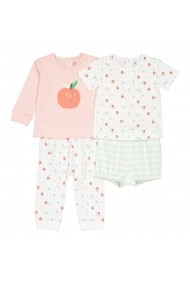 Set 2 pijamale La Redoute Collections GGT935 roz