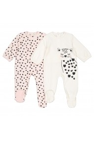 Set 2 pijamale La Redoute Collections GGT938 roz