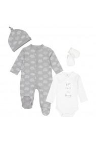 Set pijama, caciula si manusi La Redoute Collections GGX173 gri