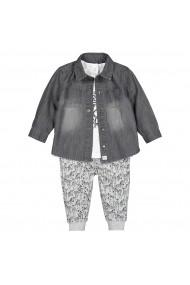 Set camasa, tricou si pantaloni La Redoute Collections GGY089 gri