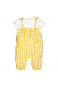 Set tricou si pantaloni lungi cu bretele La Redoute Collections GGZ600 galben