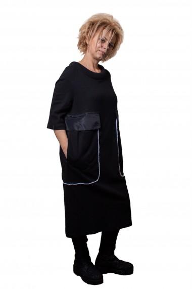 Rochie de zi Big Pockets Neagra