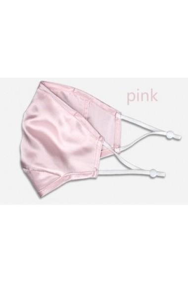 Masca de protectie din matase naturala Baby Pink