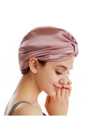 Boneta Fashion Turban din matase naturala, Lila