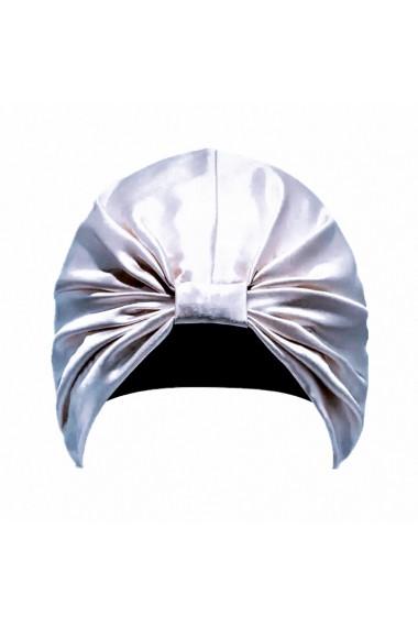 Boneta Fashion Turban din matase naturala, Silver
