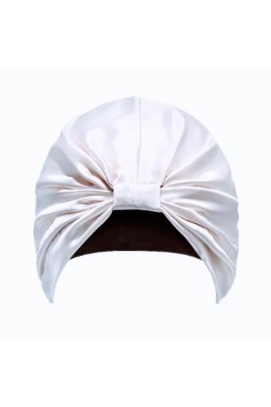 Boneta Fashion Turban din matase naturala, White
