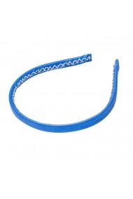 Bentita subtire din piele, Handmade, Blue