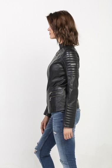 Jacheta din piele Jimmy Sanders MAS-18F CTW21000 BLACK Negru