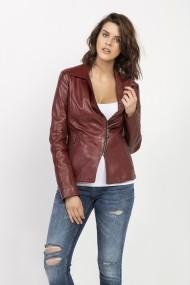 Jacheta din piele Jimmy Sanders 18F CTW21003 BORDEAUX Bordo